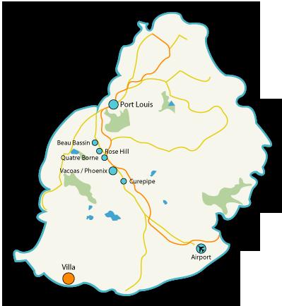 Ashimaro Villa Mauritius Location